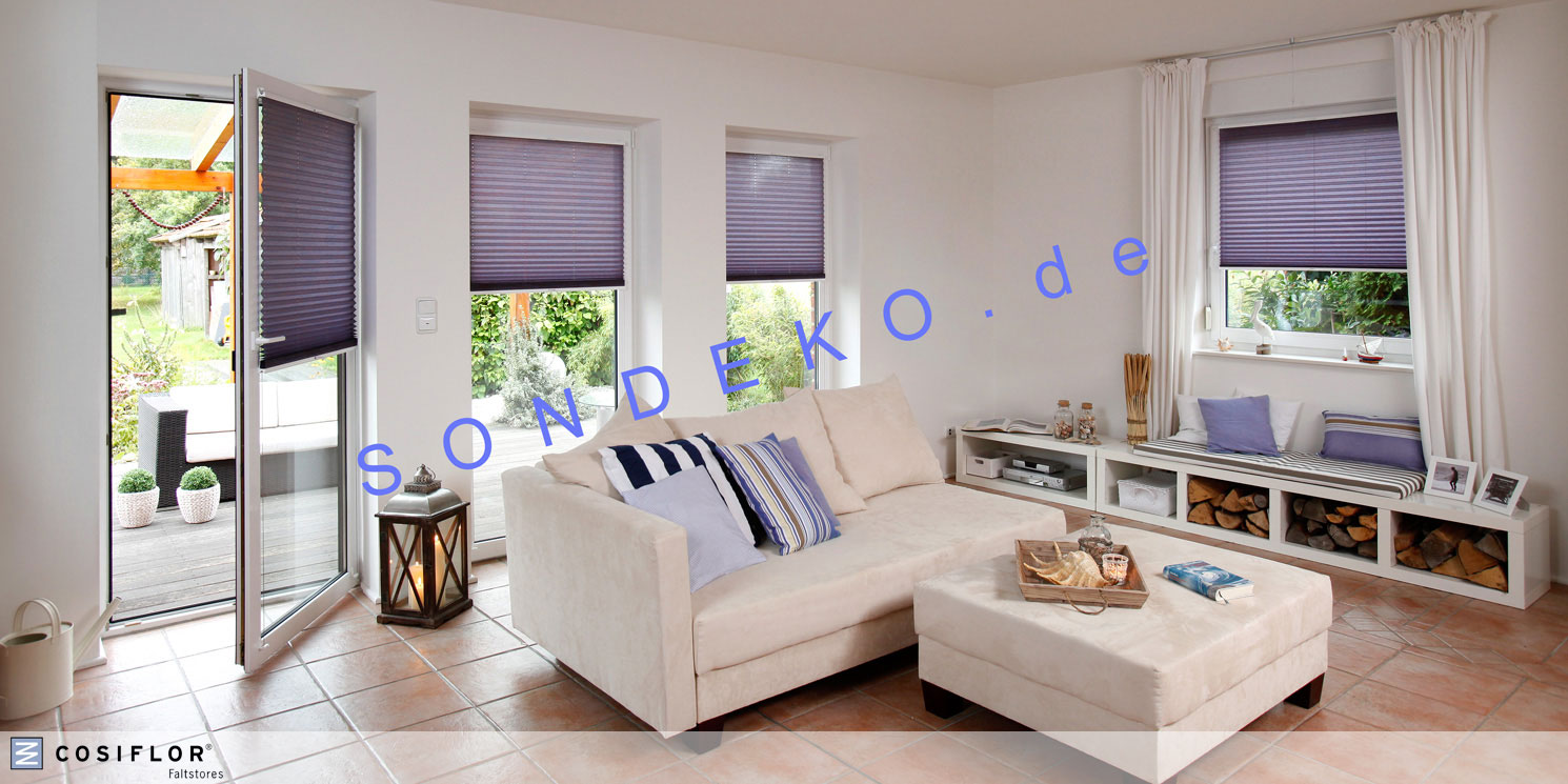 bestellen cosiflor faltstore plissee und wabenplissee. Black Bedroom Furniture Sets. Home Design Ideas