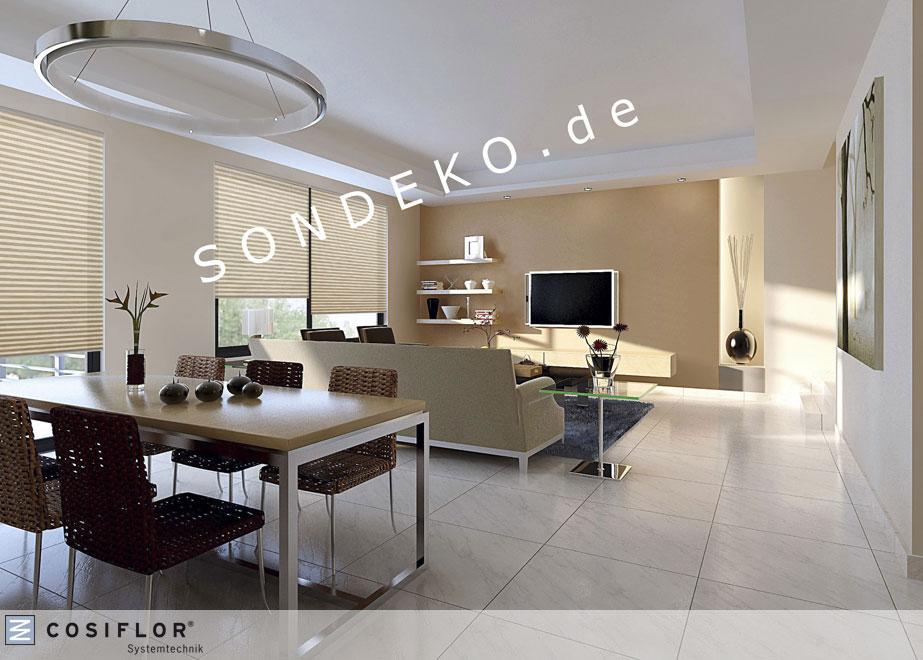 musterproben cosiflor faltstore plissee und wabenplissee. Black Bedroom Furniture Sets. Home Design Ideas